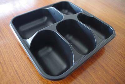 黑色打包餐盒