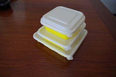 黄色打包餐盒